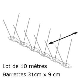 PICS ANTI PIGEONS (Lot de 10 Mètres)