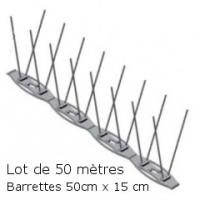 PICS ANTI PIGEON+ (Lot de 50 Mètres)
