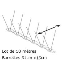 PICS ANTI PIGEONS 60-120 (Lot de 10 Mètres)