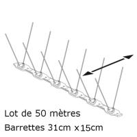 PICS ANTI PIGEONS 60-120 (Lot de 50 Mètres)