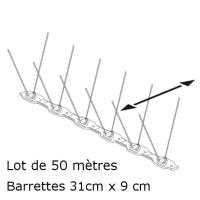 PICS ANTI PIGEONS ASTUPIC (Lot de 50 Mètres)