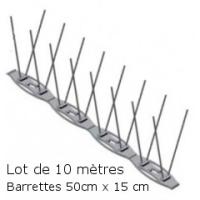 PICS ANTI PIGEON+ (Lot de 10 Mètres)